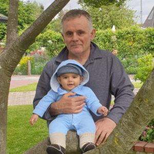 Picture of Rafael Martinez-Minuesa and his son Charlie Martinez-Minuesa