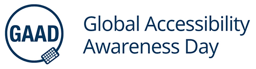 Logo del GAAD (Global Accessibility Awareness Day)