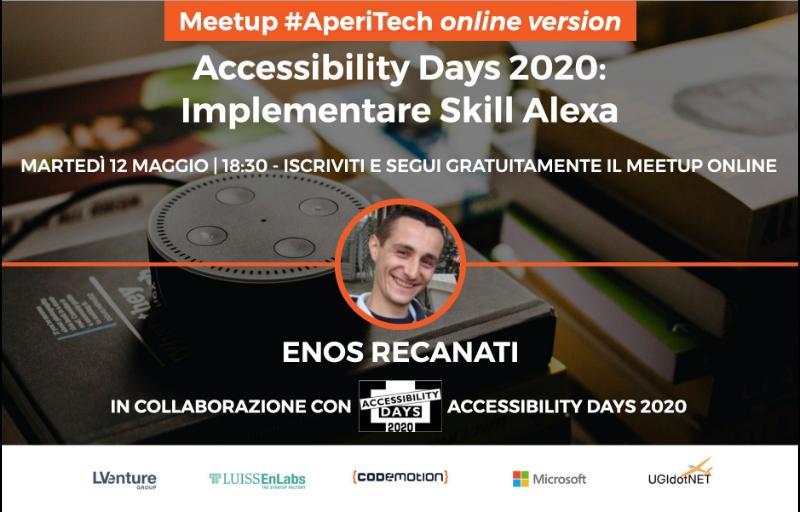 "Copertina webinar ""Implementare Skill con Alexa"""