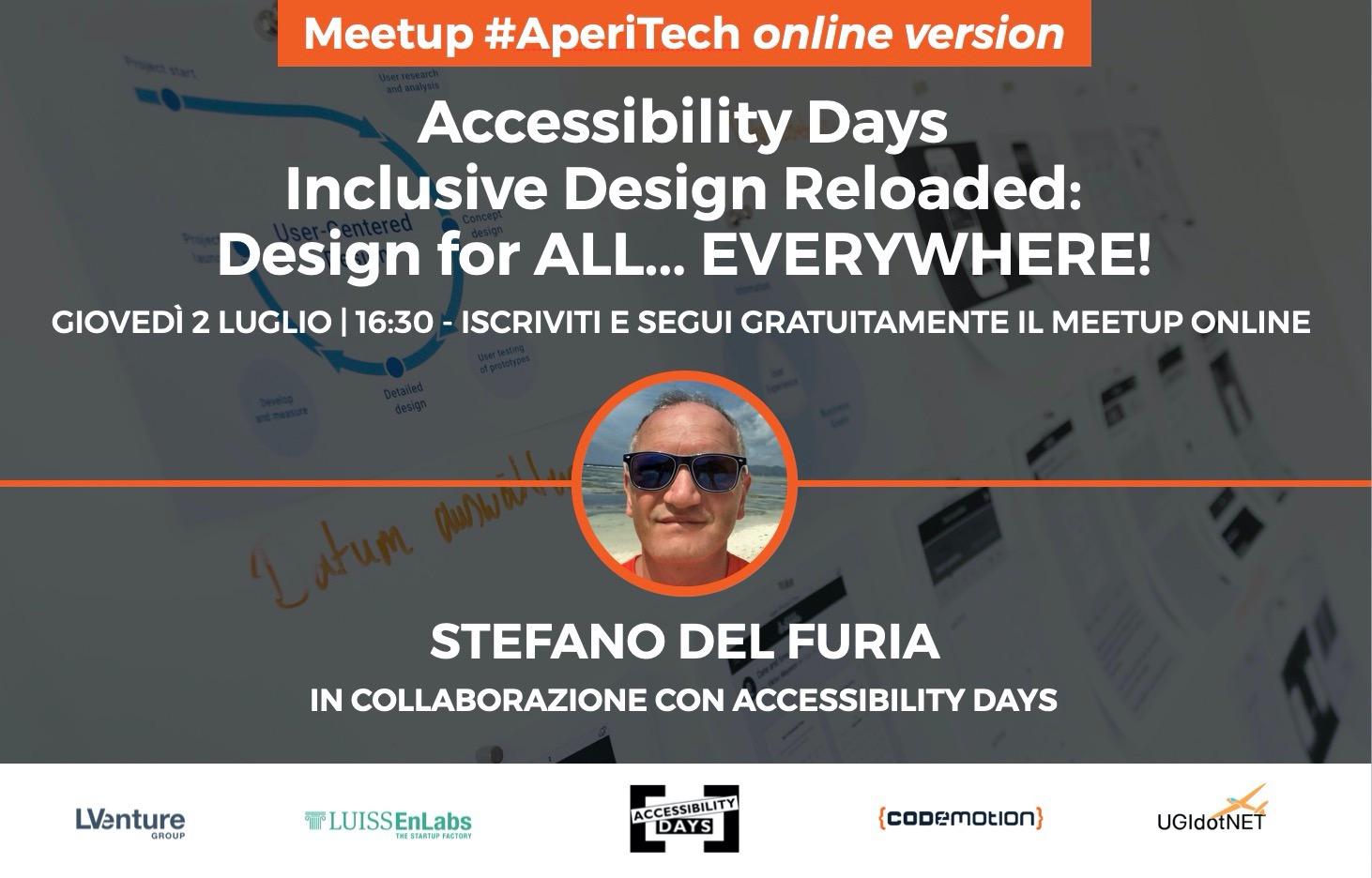 "Copertina webinar ""Inclusive Design Reloaded: Design for ALL... EVERYWHERE!"""