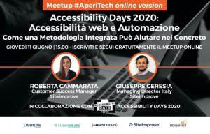"""Copertina webinar """"Accessibilità web e Automazione - come una metodologia integrata può aiutare nel concreto"""""""